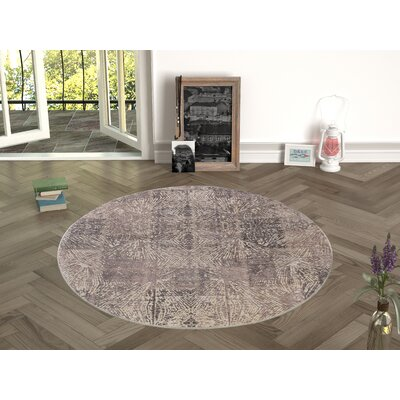 Deeley Brown Indoor/Outdoor Area Rug Size: Round 47