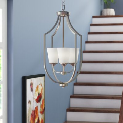 Elkton 3-Light Foyer Pendant Finish: Brushed Nickel