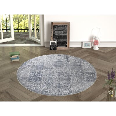 Deeley Antique Gray Indoor/Outdoor Area Rug Size: Round 47
