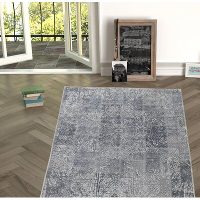 Deeley Antique Gray Indoor/Outdoor Area Rug Size: Rectangle 27 x 5
