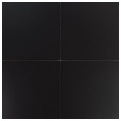 Tessile 9.75 x 9.75 Porcelain Field Tile in Basic Black