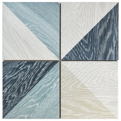 Bon Melange 6.5 x 6.5 Porcelain Field Tile in Blue
