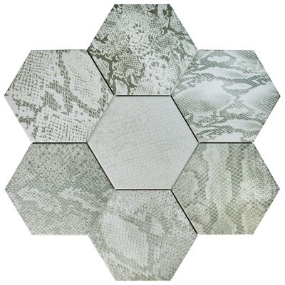 Narra Hex 8.63 x 9.88 Porcelain Field Tile in Gray Mix