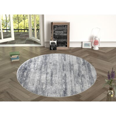 Novotny Black/White Indoor/Outdoor Area Rug Size: Round 47