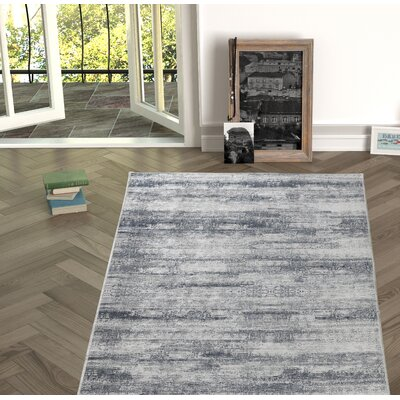 Novotny Black/White Indoor/Outdoor Area Rug Size: Rectangle 27 x 66