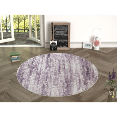 Novotny Maroon Indoor/Outdoor Area Rug Size: Round 47