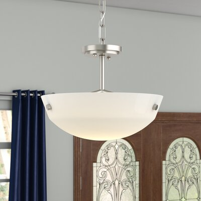 Ardaghmore 2-Light Bowl Pendant Finish: Brushed Nickel