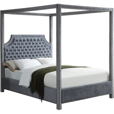 Emet Upholstered Platform Bed Size: Queen, Color: Gray