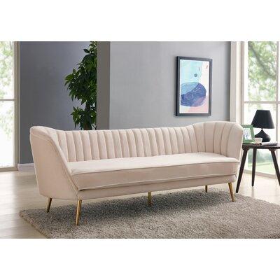 Koger Chesterfield Sofa Upholstery: Cream