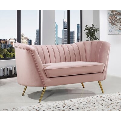 Koger Chesterfield Loveseat Upholstery: Pink