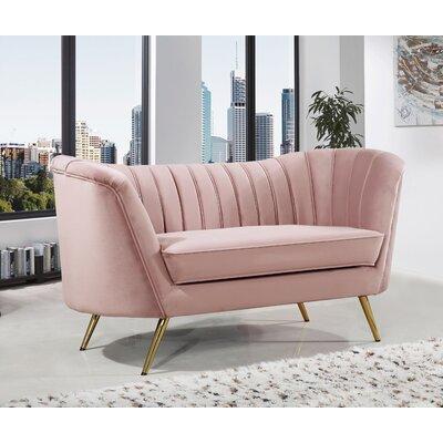 Koger Chesterfield Loveseat Upholstery: Pink