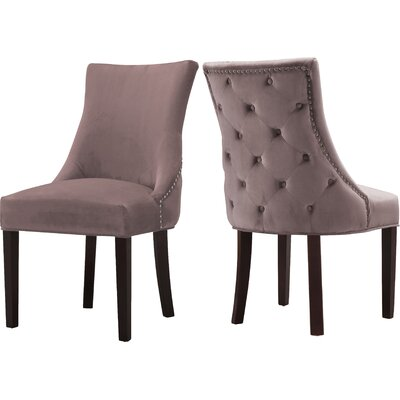 Lampert Upholstered Dining Chair Upholstery: Pink
