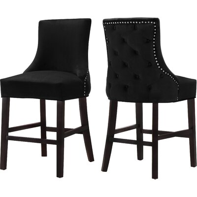 Lampert 26 Bar Stool Upholstery: Black