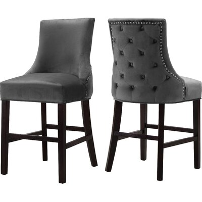 Lampert 26 Bar Stool Upholstery: Gray
