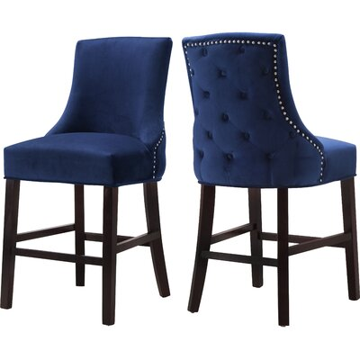 Lampert 26 Bar Stool Upholstery: Navy