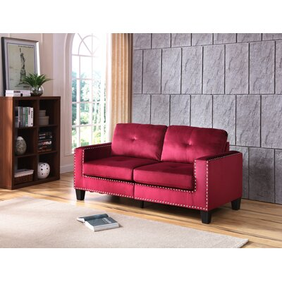Caceres Sofa Upholstery: Maroon