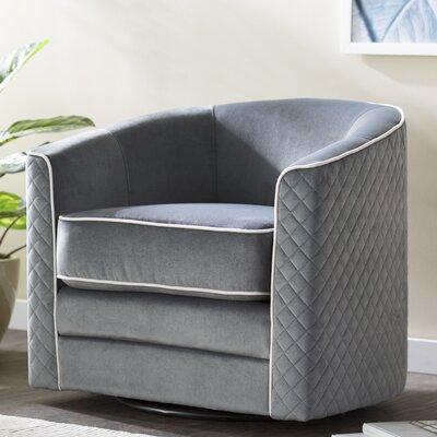Koehler Swivel Barrel Chair Upholstery: Charcoal
