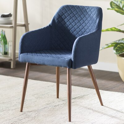 Baltimore Upholstered Dining Chair Color: Blue