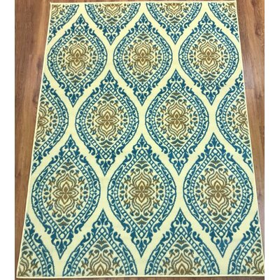 Emilio Blue Indoor Area Rug Rug Size: Rectangle 8 x 10