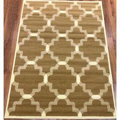Emilio Beige Indoor Area Rug Rug Size: Rectangle 5 x 7