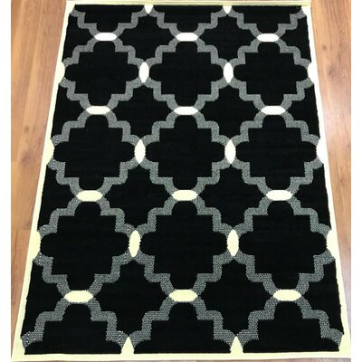 Emilio Black Indoor Area Rug Rug Size: Rectangle 8 x 10