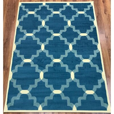 Emilio Blue Indoor Area Rug Rug Size: Rectangle 5 x 7