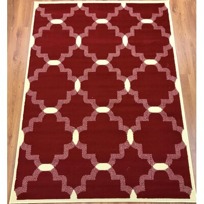 Emilio Maroon Indoor Area Rug Rug Size: Rectangle 5 x 7