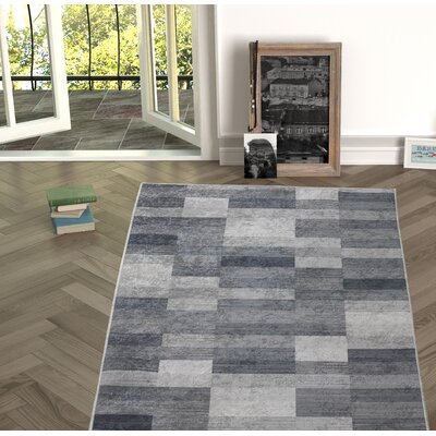 Forestville Gray Indoor/Outdoor Area Rug Size: Rectangle 27 x 66