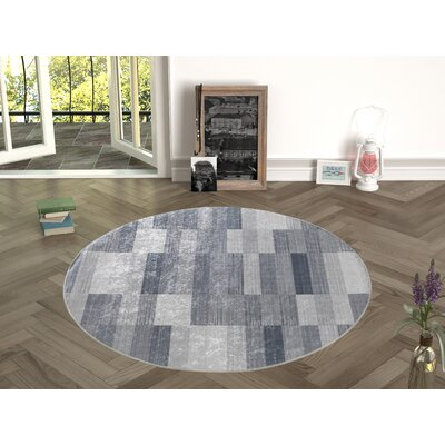 Forestville Gray Indoor/Outdoor Area Rug Size: Round 47
