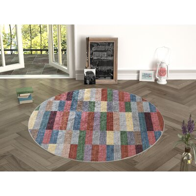 Forestville Red Indoor/Outdoor Area Rug Size: Round 47