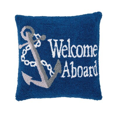 Deshotel Welcome Aboard Throw Pillow