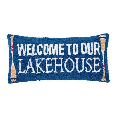 Desilets Welcome To Lakehouse Throw Pillow
