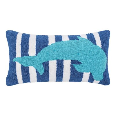 Desmarais Striped Dolphin Throw Pillow