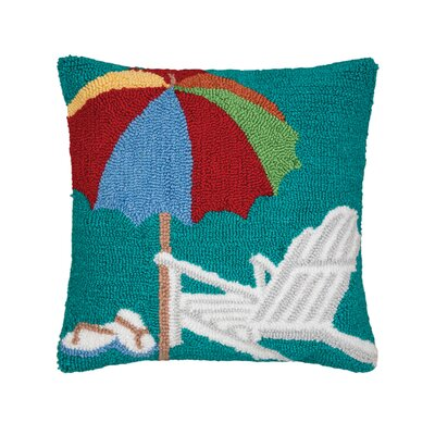 Harjo Beach Umbrella Throw Pillow