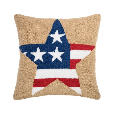 Deskins American Star Throw Pillow