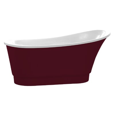 Prima Series 67 x 31 Freestanding Soaking Bathtub Color: Red