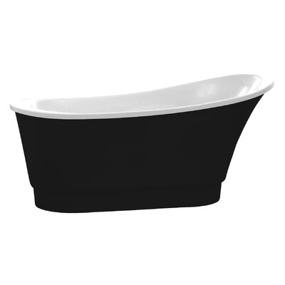 Prima Series 67 x 31 Freestanding Soaking Bathtub Color: Black