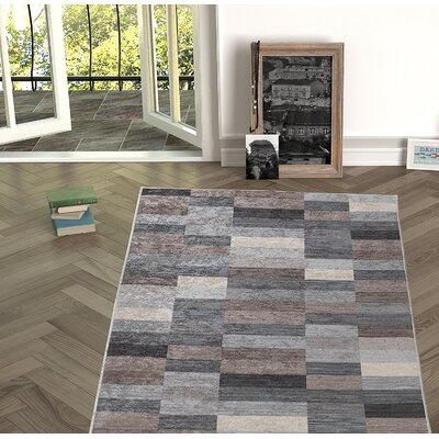 Forestville Brown/Gray Indoor/Outdoor Area Rug Size: Rectangle 53 x 76