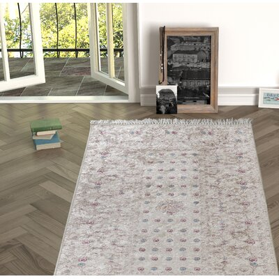 Enciso Beige Indoor/Outdoor Area Rug Size: Rectangle 53 x 76