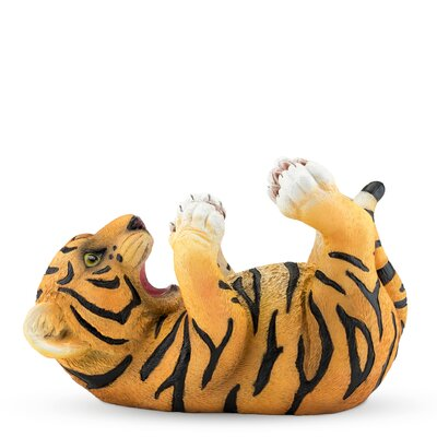 Polyresin Tipsy Tiger Tabletop Wine Bottle Rack