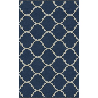 Hedley Moroccan Trellis Lattice Blue Area Rug Rug Size: Rectangle 76 x 10