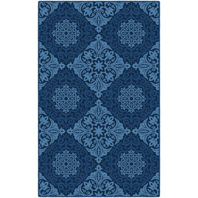 Olaughlin Blue Area Rug Rug Size: Rectangle 5 x 8