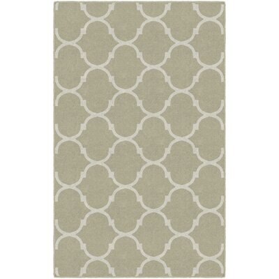 Hellam Moroccan Trellis Lattice Beige Area Rug Rug Size: Rectangle 76 x 10