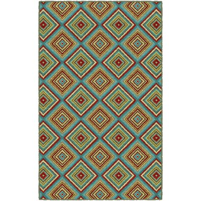 Olmstead Tile Green Area Rug Rug Size: Rectangle 34 x 5