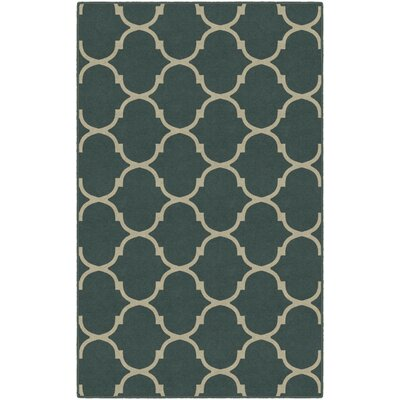 Helmsley Moroccan Trellis Lattice Gray Area Rug Rug Size: Rectangle 34 x 5