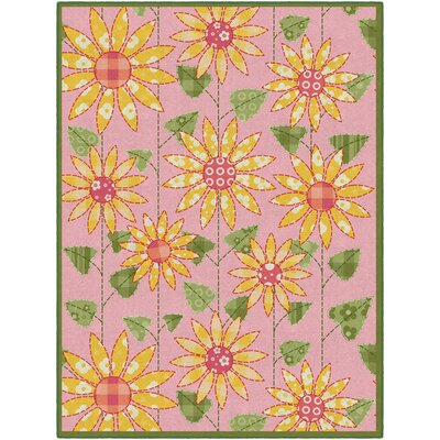 Olney Flower Pink/Orange Area Rug Rug Size: Rectangle 5 x 8