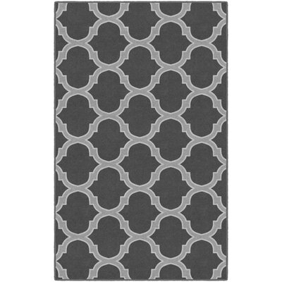 Heathrow Moroccan Trellis Lattice Gray Area Rug Rug Size: Rectangle 34 x 5