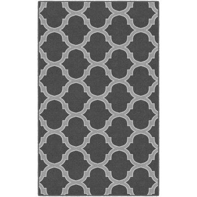 Heathrow Moroccan Trellis Lattice Gray Area Rug Rug Size: Rectangle 76 x 10