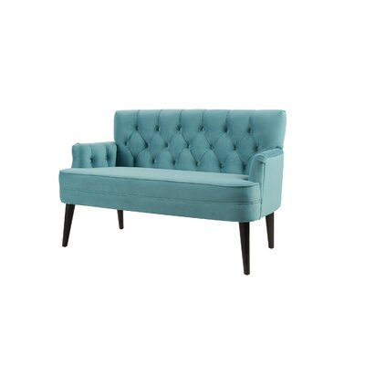 Mcgrady Tufted Accent Settee Upholstery: Arctic Blue