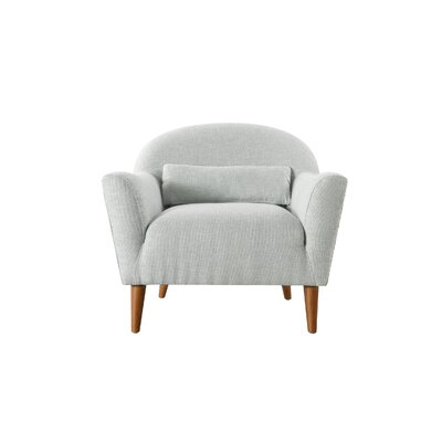 Mach Recessed Barrel Chair Upholstery: Sea Foam Green